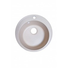 Мойка каменная А.01-02 ПЕСОК, D401/500 (0,9/180), врезная, круглая