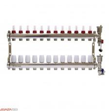 Коллекторная группа STI СМ12F в сборе с расходомерами (12 вых.)