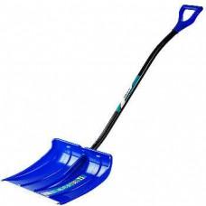 Лопата СИБИН снеговая с алюм черенком, 500мм синяя