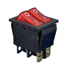 Выключатель двухклавишный 26*31 250V 15A