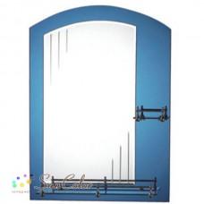 Зеркало FRAP F636 50х70 синее с 2-мя полочками