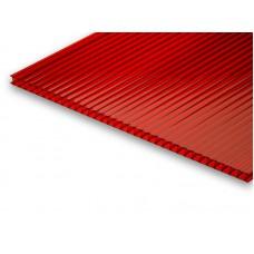 Поликарбонат сотовый цв. 2100х6000х4,0мм (пл 0,63; 8 кг) рубин. (бордо) Цветной