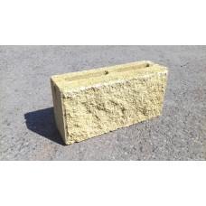 Блок рваный перегородочный желтого цвета 40*20*10мм