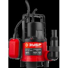 Насос дренажный ЗУБР НПГ- М1-400 для грязной воды