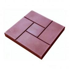 Тротуарная плитка (ГОСТ 17608-91) калифорния красная 300*300*30 мм
