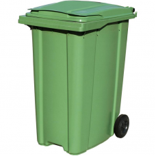 Бак для мусора на 240 литров на колесах Зеленый