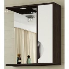 200 Шкаф зеркальный ALLESSANDRO 600L белый текстура