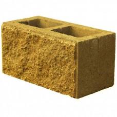 Блок стеновой рваный оранжевого цвета 40*20*20мм