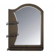 Зеркало FRAP F681 60х80 бронза с 3-мя полочками