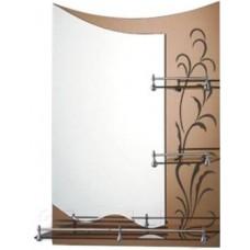 Зеркало FRAP F687 60х80 бронза с 3-мя полочками