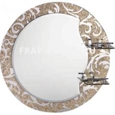Зеркало FRAP F655 60х60 с 2-мя полочками