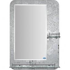 Зеркало FRAP F690 50х70 с 2-мя полочками комбин.
