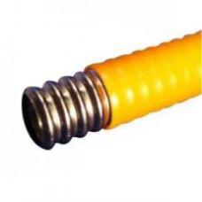 Труба гофрированная из нержавеющей стали термообработанная с п/э покрытием диаметр 15