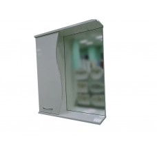 220 Зеркало-шкаф PROFLINE Орхидея (1дверь слева+зеркало) 55см Молочный глянец