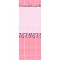 П 023 Панель ПВХ Unique Капли росы розовый 2700*250*8мм