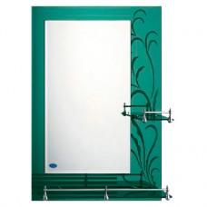 Зеркало FRAP F686 50х70 зеленое с 2-мя полочками